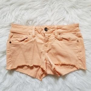 Anthropologie Level 99 Jean Shorts Orange 26